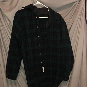 Other - Men's green wool flannel